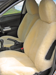 Airbag enabled sheepskin covers