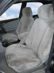 Stone sheepskin car covers