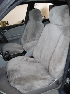 Stone sheepskin car seat covers