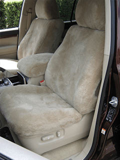 Stone sheepskin car seat covers front seats